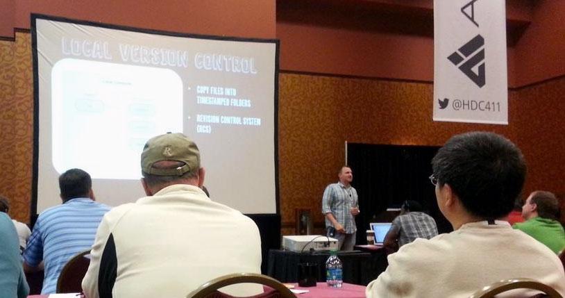 Me presenting at HDC14